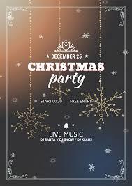Printable Christmas Flyers Design Christmas Party Poster Printable Christmas Flyer By