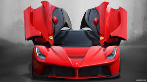 2018 ferrari laferrari open doors front wallpaper