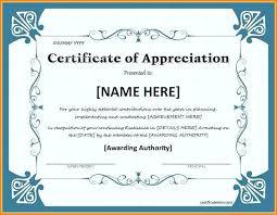 Blank Certificate Of Appreciation Template Interestor Co