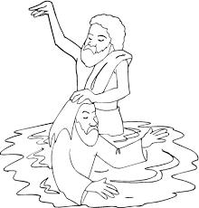 Dop Van Jezus In De Jordaan Kleurplaat Gratis Kleurplaten Printen
