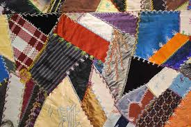 Crazy Quilt & Crazy quilt with elaborate, intricate stitching. Adamdwight.com