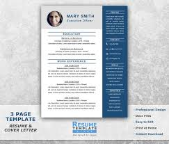 Executive Resume Template Word Extraordinary Executive Resume Template Word Professional Resume Template Etsy