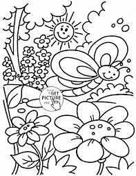 Enjoyable Design Ideas Free Spring Coloring Pages For Kindergarten