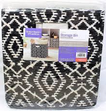 com better homes garden collapsible fabric storage bin cube black wandering ikat home kitchen