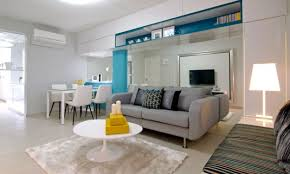 Living Room : IKEA Living Room Decorating Ideas In A Small Room Furnished  With A Long Sofa And Cushion Under The Carpet Then The Small White Round  Table And ...