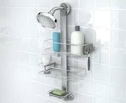 adjule stainless steel shower organiser caddy tension pole rust proof 2