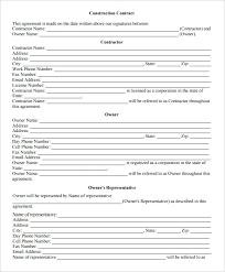 Work Contract Templates Custom Construction Employment Contract Template Job Contract Templates