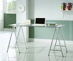 clear office desk. Clear-tempered-glass-nickel-office-desk.jpg_product Clear Office Desk