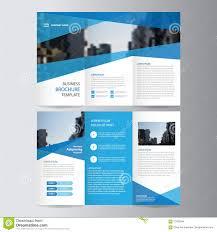 Trifold Template Blue Business Trifold Leaflet Brochure Flyer Template Design