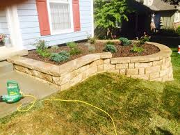 retaining wall flower bed a2d