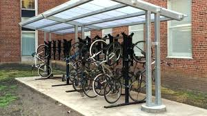 outdoor bicycle shelters slope with vertical bike rack diy hello world outdoor bike rack