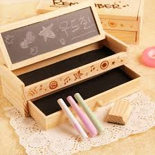 Creative Stationery Multi function Wooden DIY Small Blackboard