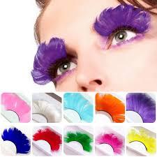 YOKPN <b>1 Pair Colorful</b> Feather Stage Makeup Fake Eyelashes ...