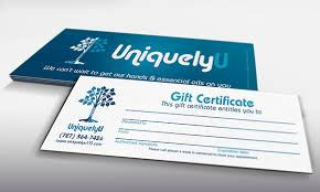 gift certificate for business uniquely u business card gift certificate on behance