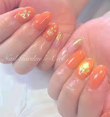 Maimu On Twitter ジェルネイル くすみオレンジ オレンジ