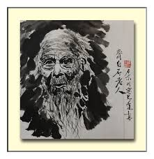 portrait painting chinese artist qi baishi by richard xiaochuan li