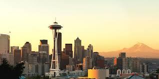 Seattle Cityscape Seattle Skyline From Kerry Park
