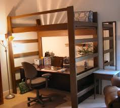 loft beds for kids youth teen college s heavy duty solid wood custom made beds with stairs steps desk shelves storage