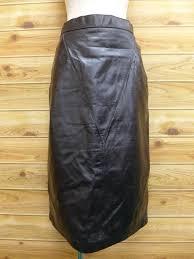 vintage leather skirt wilson black used