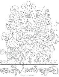 Coloring Pages Gingerbread House Coloring Pages Gingerbread House