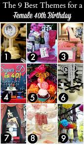 diy centerpieces for 40th birthday party. 9 best 40th birthday themes for women diy centerpieces party