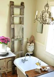 antique decorating ideas antique wood ladder towel rack antique door decorating ideas