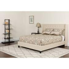 Upholstered platform bed frame Pedestal Riverdale Size Tufted Upholstered Platform Bed Kmart Shop Riverdale Size Tufted Upholstered Platform Bed Free Shipping
