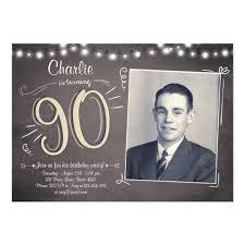 90th Birthday Invitation Vintage Ninety Birthday Zazzle Com