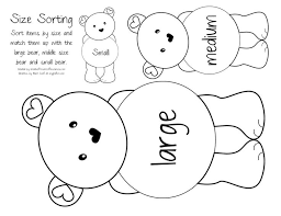 2fc925d991243ec1a058905557059843 teddy bear day preschool math 72 best images about big and small on pinterest activities, free on free worksheets for kindergarten reading