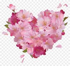 Pictures Of Hearts And Flowers Free Png Pink Flower Heart Png Pink Hearts And Flowers