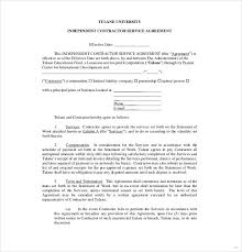 independent contract template service agreement contract template service contract sample new
