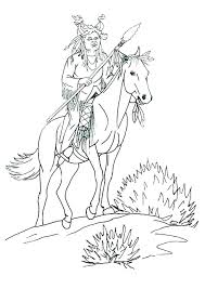 typical native american coloring pages o2648