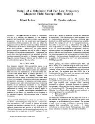 design of a helmholtz coil for low frequency magnetic field susceptibility testing pdf available