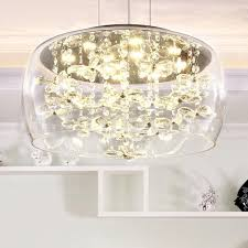 modern 40cm 50cm round clear glass lamp shade crystal pendant light dining room living room