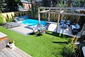 Backyard Pool Designs Landscaping Pools Stunning Unique Small Backyard Pools Ideas Rectangular Pool Arbour Lounge