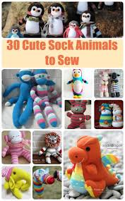 great collection of all sorts of sock animals to sew the sock monkey of course