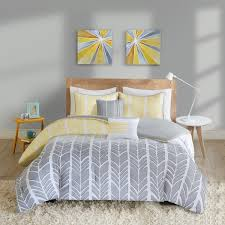 grey and yellow duvet cover intelligent design kennedy comforter set free 6