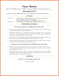 8 9 Front Desk Resume Sample Formsresume