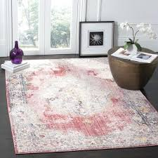 pink and grey rug dunelm bohemian polyester area 7 x square