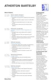Graphic Design Resume Sles Pdf Graphic Design Resume Sles 28