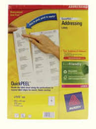 Avery 10 Per Page Labels Avery Dennison Avery Laser Label 99 1mm X 57mm 10 Per Sheet Pack