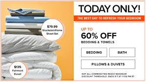 hudson s bay canada one day today only save 60 on bedding 100 00 glucksteinhome 625