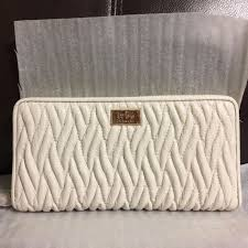 NWT Authentic Coach Accordion Zip Wallet in Gathered Twist Leather F49609   275