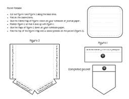 Pocket Template Interactive Notebook Vocabulary Pocket Templates