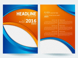 Orange Flyer Abstract Flyer Background With Orange And Blue Color Vectors Stock