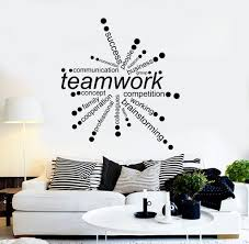 office wall decal. Vinyl Wall Decal Teamwork Words Office Decor Business Stickers Unique Gift (ig4342) C