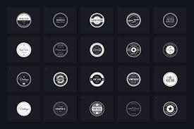 Word Badge Template 40 Retro Badges Vol 1 Badges Retro Templates Logo Menu