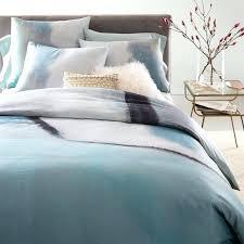 light blue duvet covers queen 400 thread count organic sateen colorscape duvet cover shams west elm
