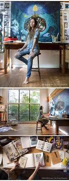 step inside artist rebecca rebouches rustic home studio in the covington woods artistic home office track