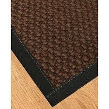 handcrafted natural sisal rug black binding 8x10 8 x 10 rugs